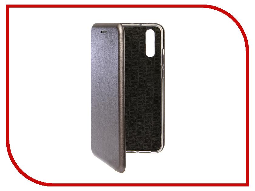 Аксессуар Чехол для Huawei P20 Innovation Book Silicone Magnetic Silver 13407 аксессуар чехол для huawei p smart 7s innovation silicone pink 12840