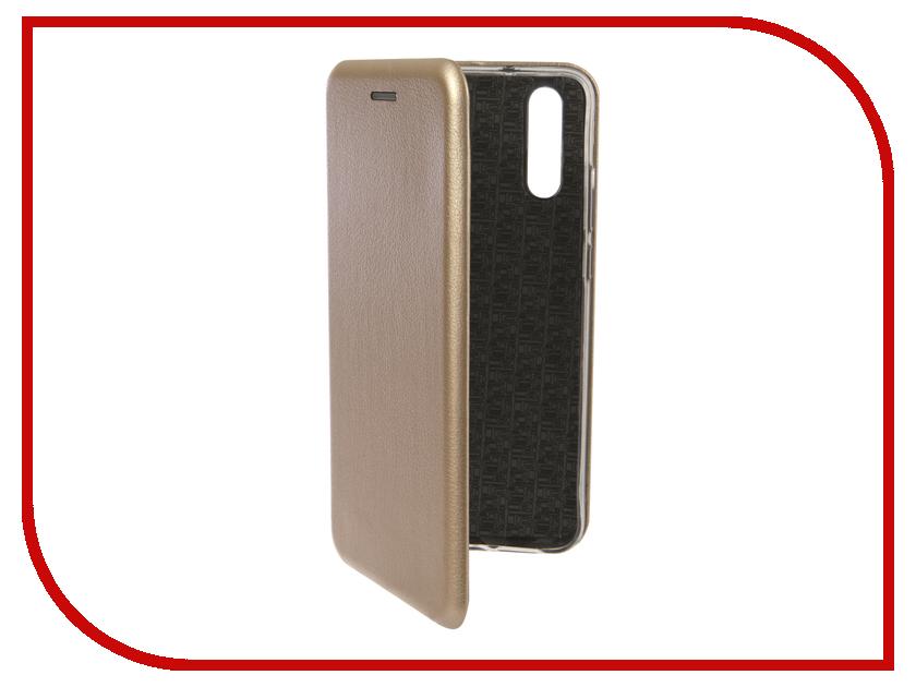 Аксессуар Чехол для Huawei P20 Innovation Book Silicone Magnetic Gold 13408 аксессуар чехол для huawei p smart 7s innovation silicone pink 12840