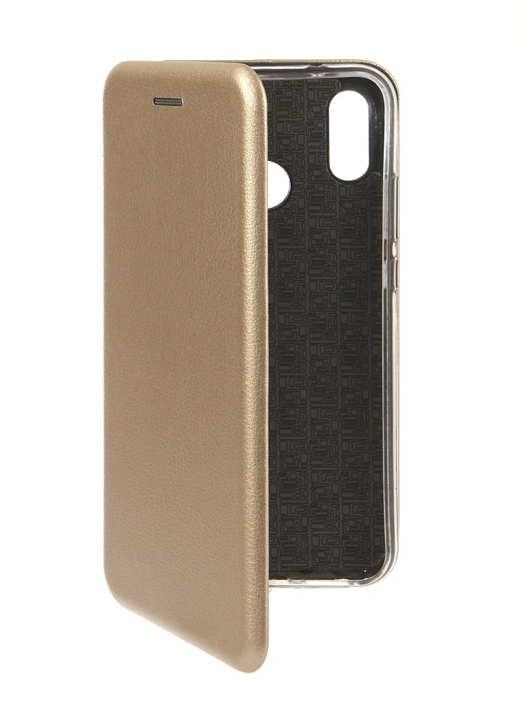 Чехол Innovation для Huawei P20 Lite Book Silicone Magnetic Gold 13412
