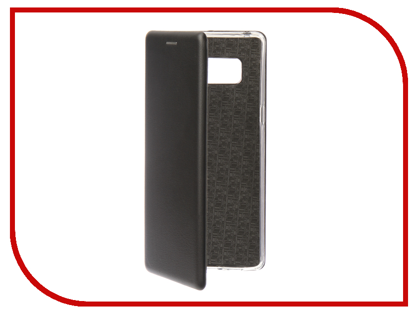 Аксессуар Чехол для Samsung Galaxy Note 8 Innovation Book Silicone Magnetic Black 13430 аксессуар чехол samsung j3 2017 j330f zibelino clear view black zcv sam j330 blk