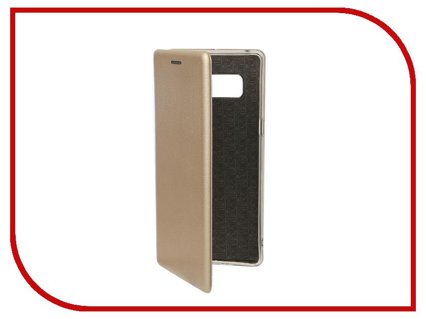 Фото - Аксессуар Чехол для Samsung Galaxy Note 8 Innovation Book Silicone Magnetic Gold 13432 аксессуар чехол для samsung galaxy j7 2017 gecko book gold g book samj7 2017 gold