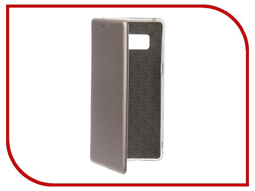 Купить Аксессуар Чехол для Samsung Galaxy Note 8 Innovation Book Silicone Magnetic Silver 13433
