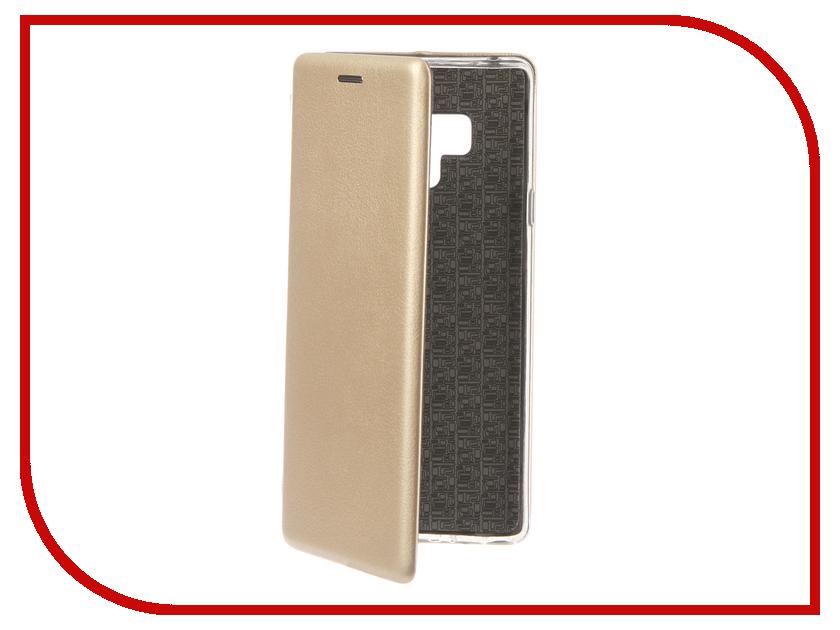Аксессуар Чехол для Samsung Galaxy Note 9 Innovation Book Silicone Magnetic Gold 13437 цена и фото