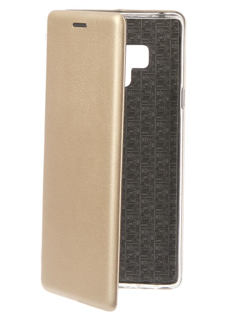 Аксессуар Чехол Innovation для Samsung Galaxy Note 9 Book Silicone Magnetic Gold 13437 аксессуар чехол для samsung galaxy note 8 innovation book silicone magnetic gold 13432