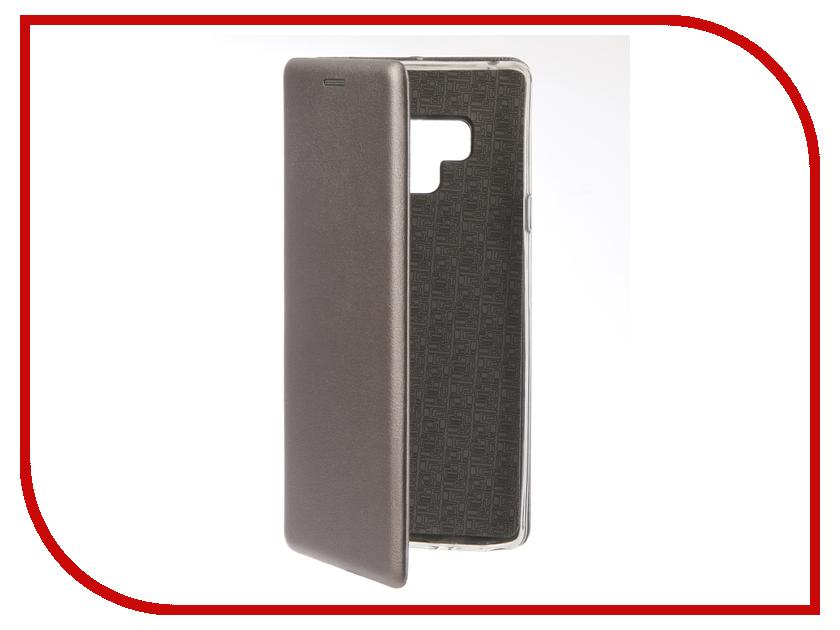 Купить Аксессуар Чехол для Samsung Galaxy Note 9 Innovation Book Silicone Magnetic Silver 13438