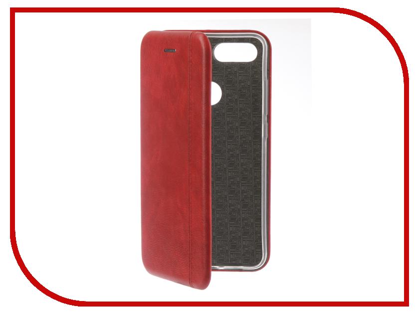 Аксессуар Чехол для Xiaomi Mi 8 Lite Innovation Book Silicone Magnetic Red 13441 аксессуар чехол книга для xiaomi mi 8 book innovation book silicone silver 12484