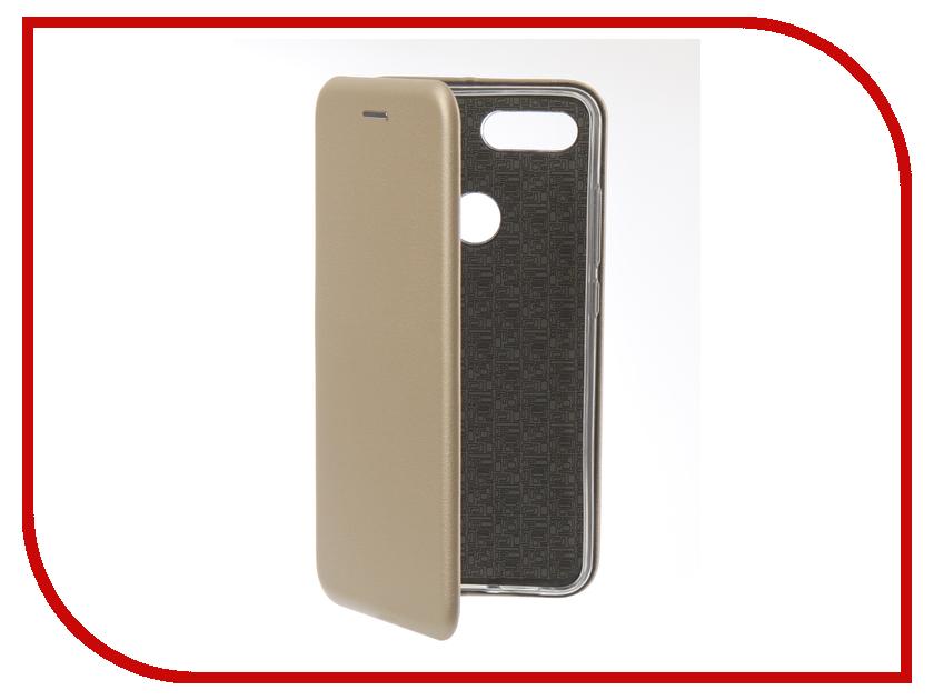 Аксессуар Чехол для Xiaomi Mi 8 Lite Innovation Book Silicone Magnetic Gold 13442 аксессуар чехол книга для xiaomi mi 8 book innovation book silicone silver 12484