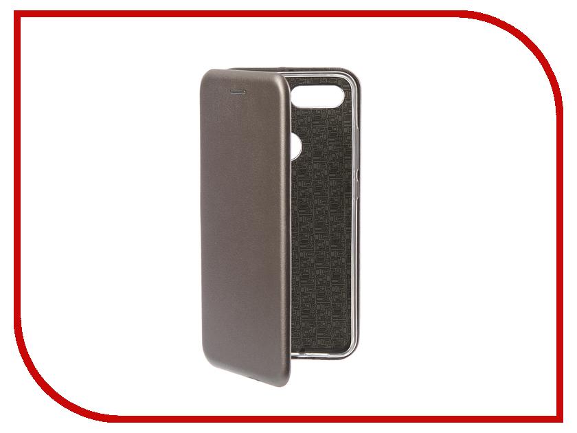 Аксессуар Чехол для Xiaomi Mi 8 Lite Innovation Book Silicone Magnetic Silver 13443 аксессуар чехол книга для xiaomi mi 8 book innovation book silicone silver 12484