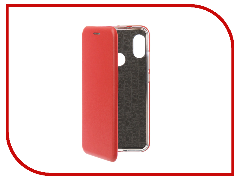 Аксессуар Чехол для Xiaomi Redmi 6 Pro Innovation Book Silicone Magnetic Red 13451 аксессуар чехол книга для xiaomi mi 8 book innovation book silicone red 12482