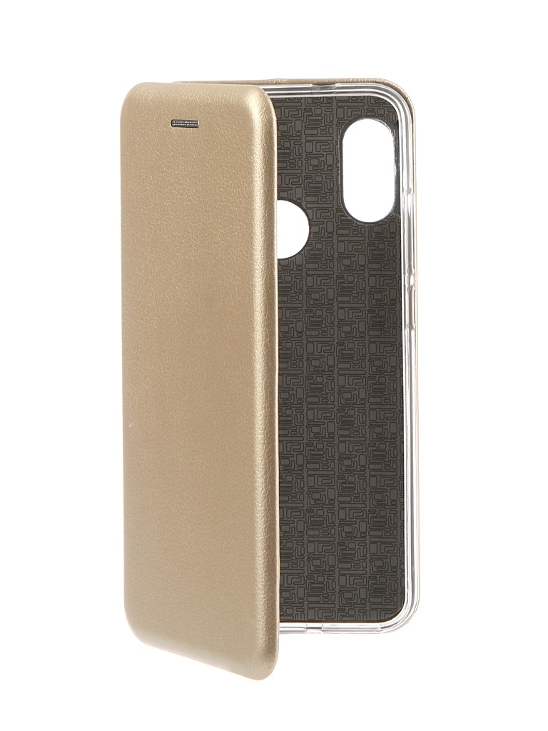 Фото - Аксессуар Чехол Innovation для Xiaomi Redmi 6 Pro Book Silicone Magnetic Gold 13452 аксессуар