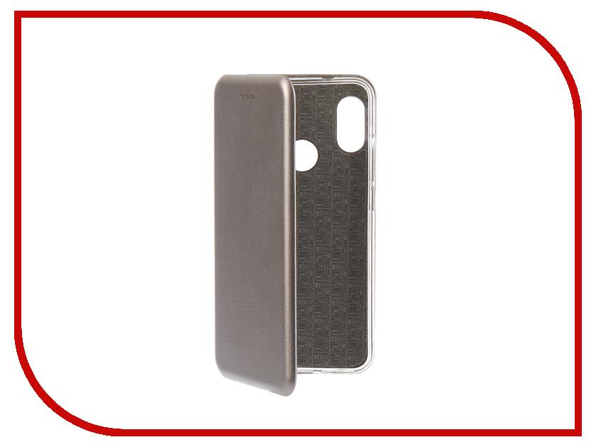 Аксессуар Чехол для Xiaomi Redmi 6 Pro Innovation Book Silicone Magnetic Silver 13453 аксессуар чехол книга для xiaomi mi 8 book innovation book silicone silver 12484