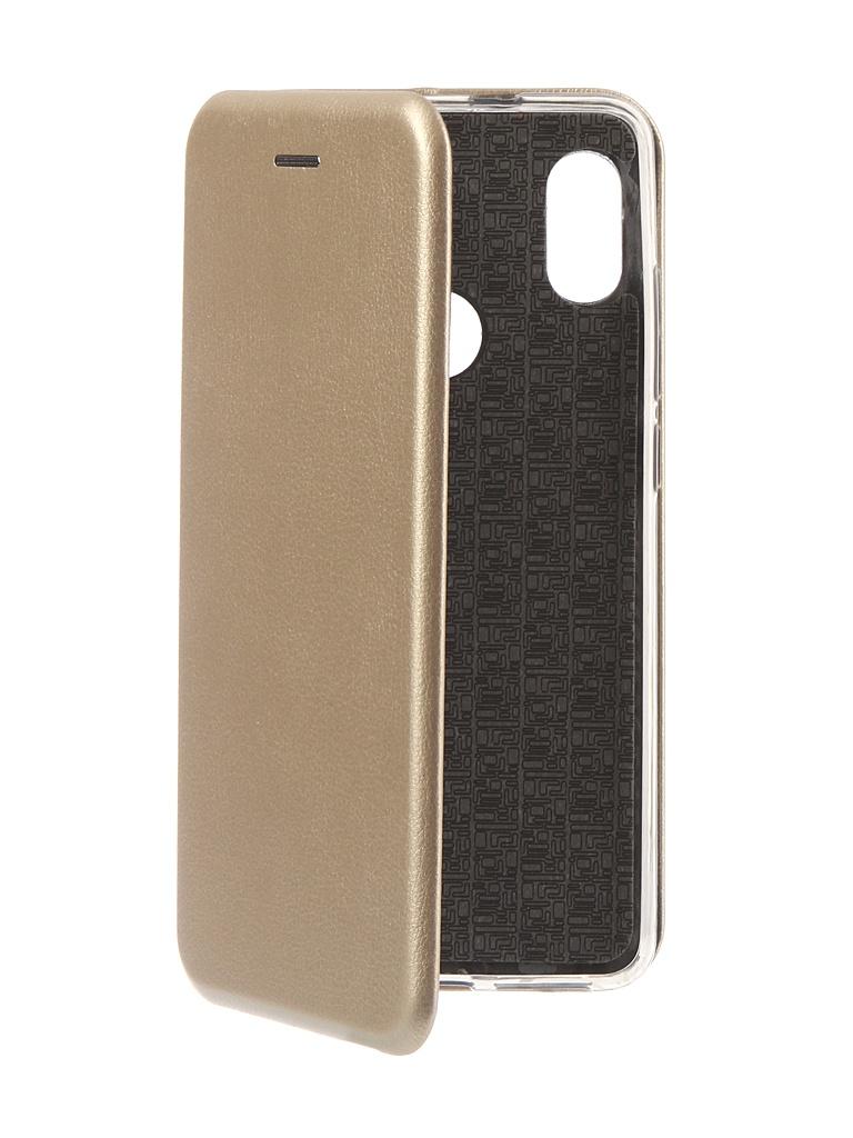 Аксессуар Чехол Innovation для Xiaomi Redmi Note 5 Pro 2018 Book Silicone Magnetic Gold 13457 аксессуар чехол книга innovation для xiaomi redmi 5 plus redmi note 5 book silicone gold 11448