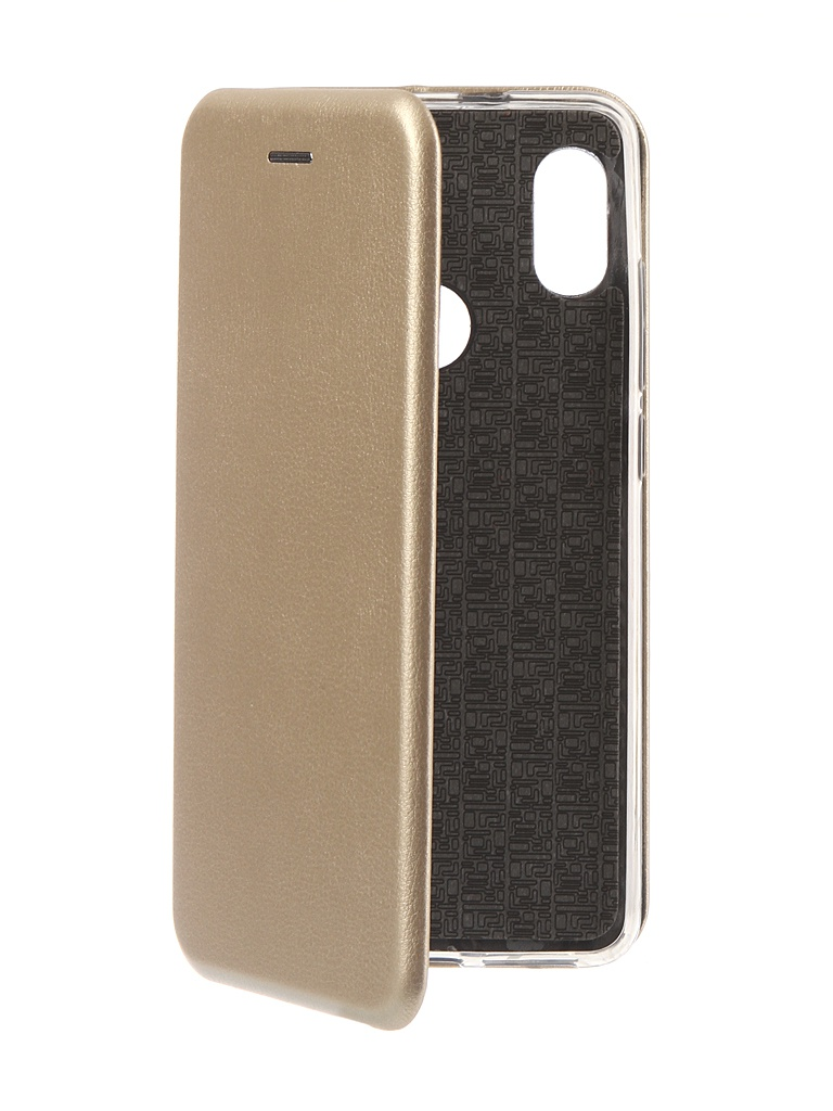 Аксессуар Чехол Innovation для Xiaomi Redmi Note 5 Pro 2018 Book Silicone Magnetic Gold 13457 аксессуар чехол книга xiaomi redmi note 3 note 3 pro innovation book silicone rose gold 11438