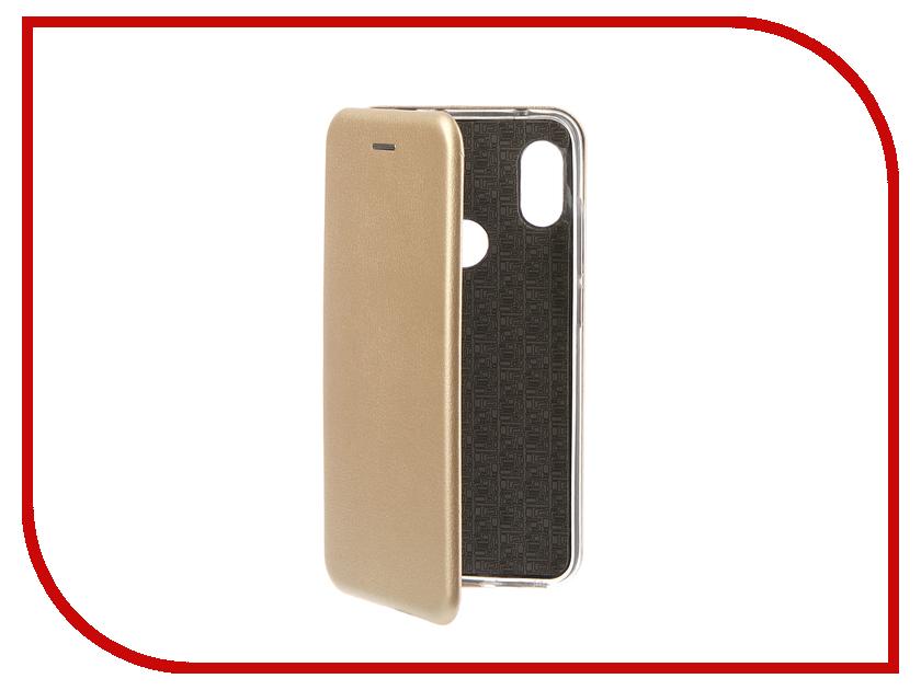 Аксессуар Чехол для Xiaomi Redmi Note 6 Pro 2018 Innovation Book Silicone Magnetic Gold 13462 аксессуар чехол книга xiaomi redmi note 3 note 3 pro innovation book silicone rose gold 11438