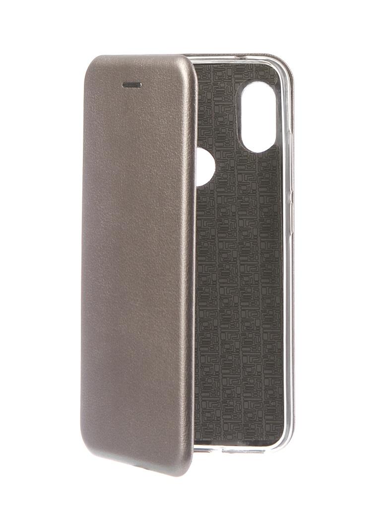 Аксессуар Чехол Innovation для Xiaomi Redmi Note 6 Pro 2018 Book Silicone Magnetic Silver 13463 аксессуар чехол книга xiaomi redmi note 3 note 3 pro innovation book silicone rose gold 11438
