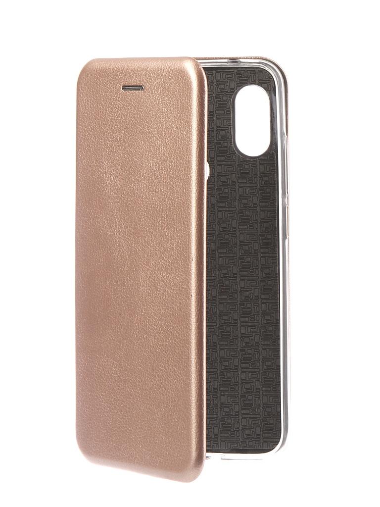 Аксессуар Чехол Innovation для Xiaomi Redmi Note 6 Pro 2018 Book Silicone Magnetic Rose Gold 13464 аксессуар чехол для xiaomi redmi s2 innovation book silicone gold 12470