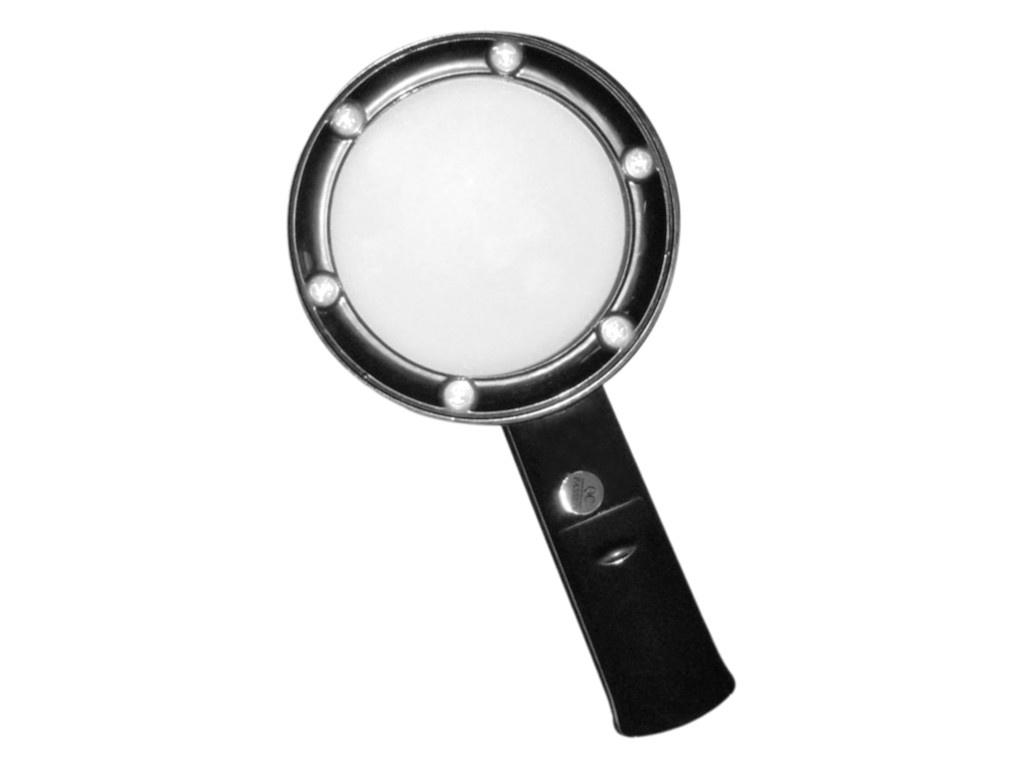 Лупа Kromatech ZB666-075 5x с подсветкой 6 LED Black 23149b110 цена и фото