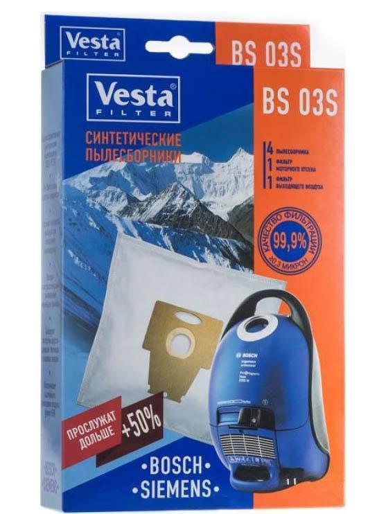 Мешки пылесборные Vesta Filter BS 03 S мешки для пыли vesta bs 03 для bosch