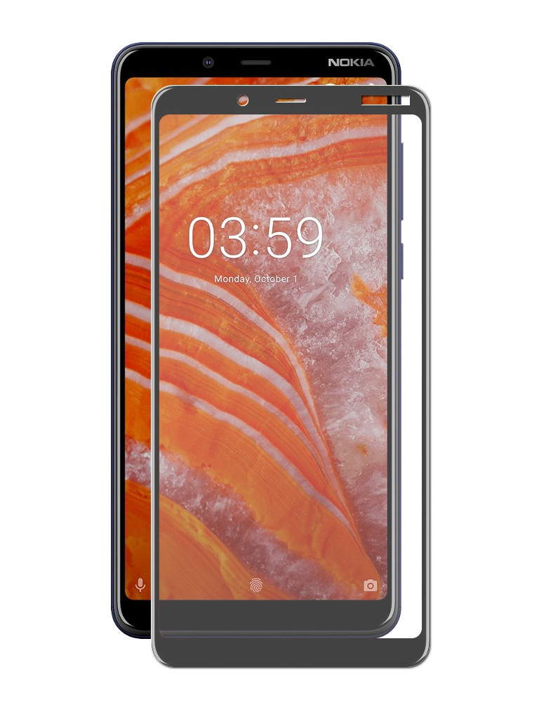 Фото - Аксессуар Защитное стекло Neypo для Nokia 3.1 Plus Full Glue Glass Black Frame NFGL6114 аксессуар