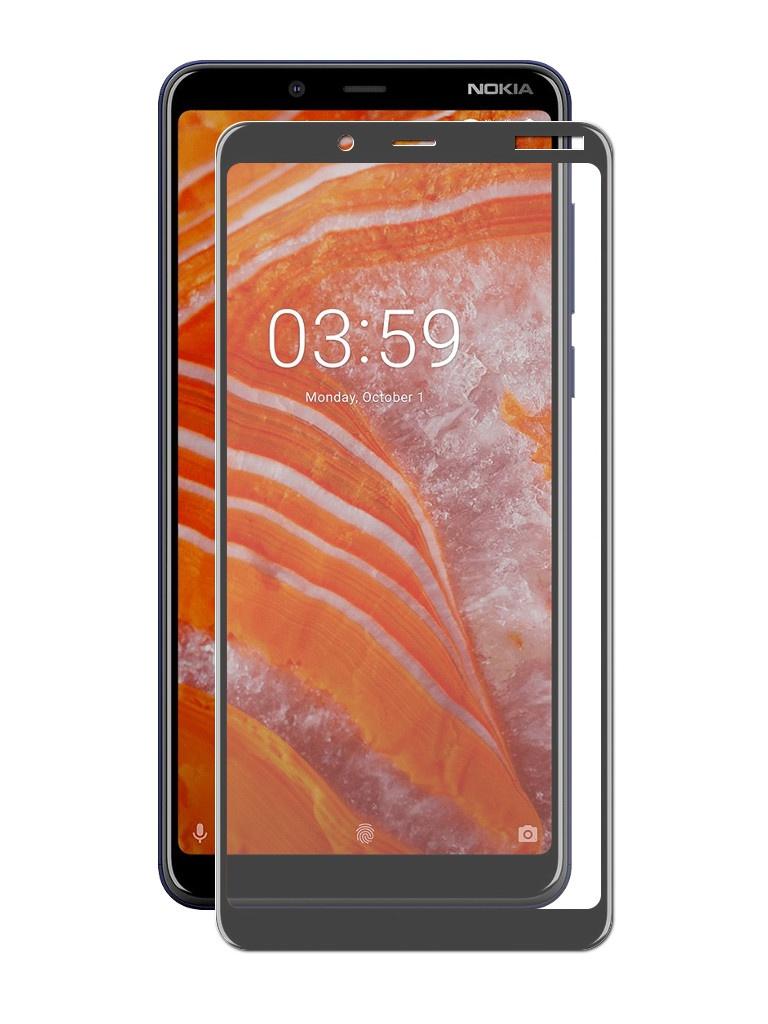 Аксессуар Защитное стекло Neypo для Nokia 3.1 Plus Full Glue Glass Black Frame NFGL6114