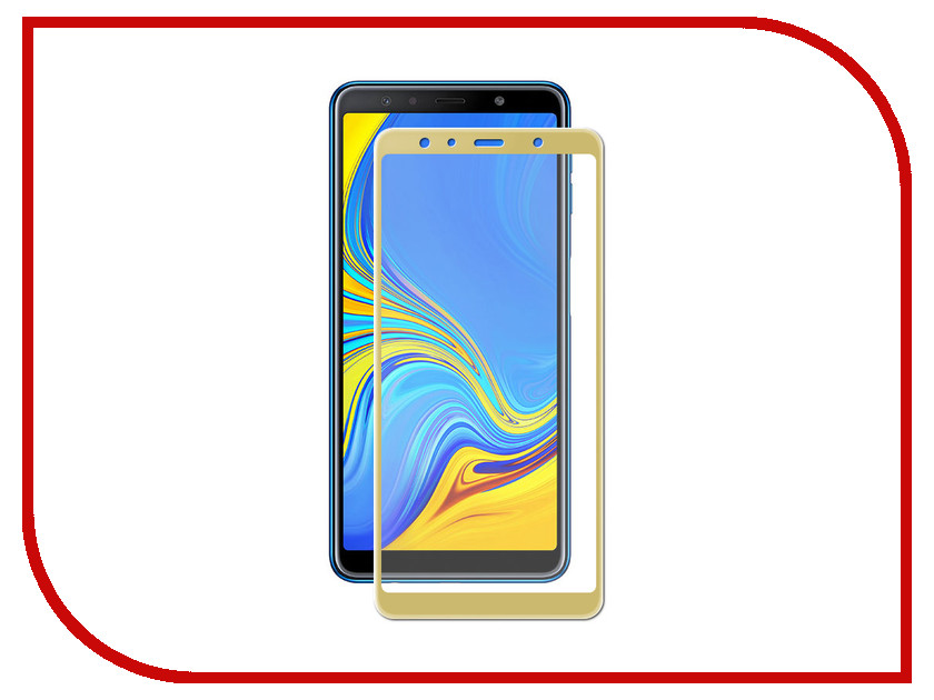 Аксессуар Защитное cтекло для Samsung A7 2018 Neypo Full Glue Glass Gold Frame NFGL6342 аксессуар защитное стекло для samsung galaxy a6 plus 2018 neypo full screen glass gold frame nfg4423