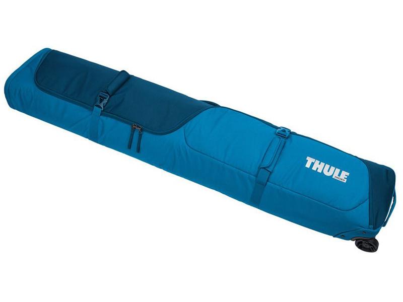 Чехол на колёсиках для 2-x пар горных лыж Thule RoundTrip Ski Roller Poseidon Blue 225121 цена