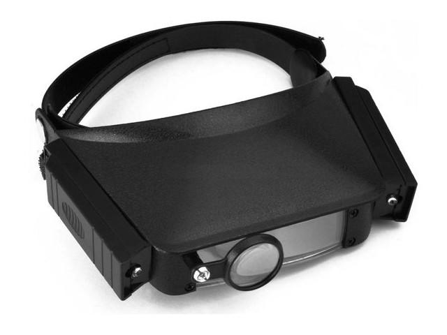 Лупа налобная Kromatech MG81007 1.8x/2.3x/3.7x/4.8x с подсветкой 2 LED 23149b068 цена и фото