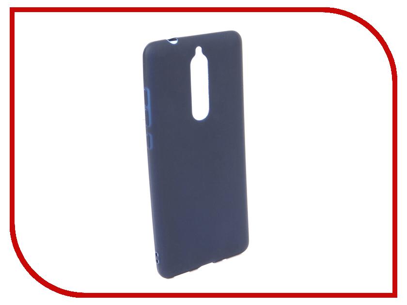 Аксессуар Чехол для NOKIA 5.1 2018 Neypo Soft Mate Dark Blue NST6129 аксессуар чехол для nokia 6 2018 neypo soft matte silicone dark blue nst4300