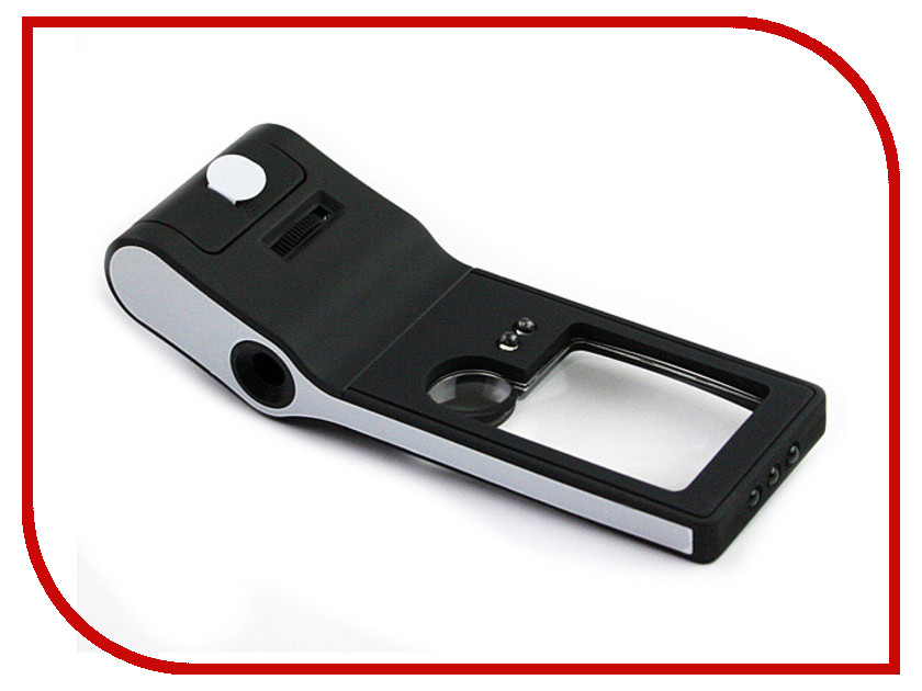 Лупа карманная Kromatech TH-515 3x/10x/55x с микроскопом и подсветкой 6 LED Black 23149b247