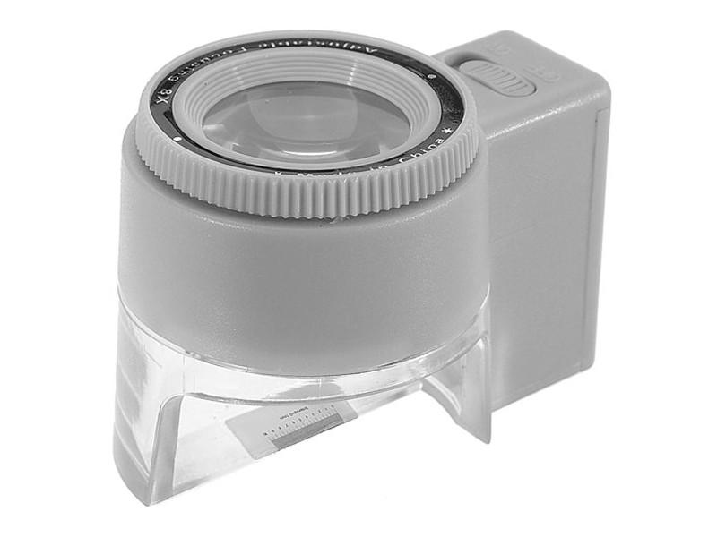 Лупа часовая Kromatech MG13100-2 8x контактная с подсветкой 1 LED 23149w046 стоимость