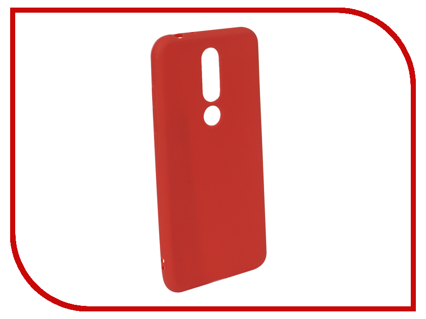 Аксессуар Чехол для NOKIA 5.1 Plus X5 2018 Neypo Soft Matte Red NST6124 аксессуар чехол для nokia 7 plus neypo silicone transparent nst4318