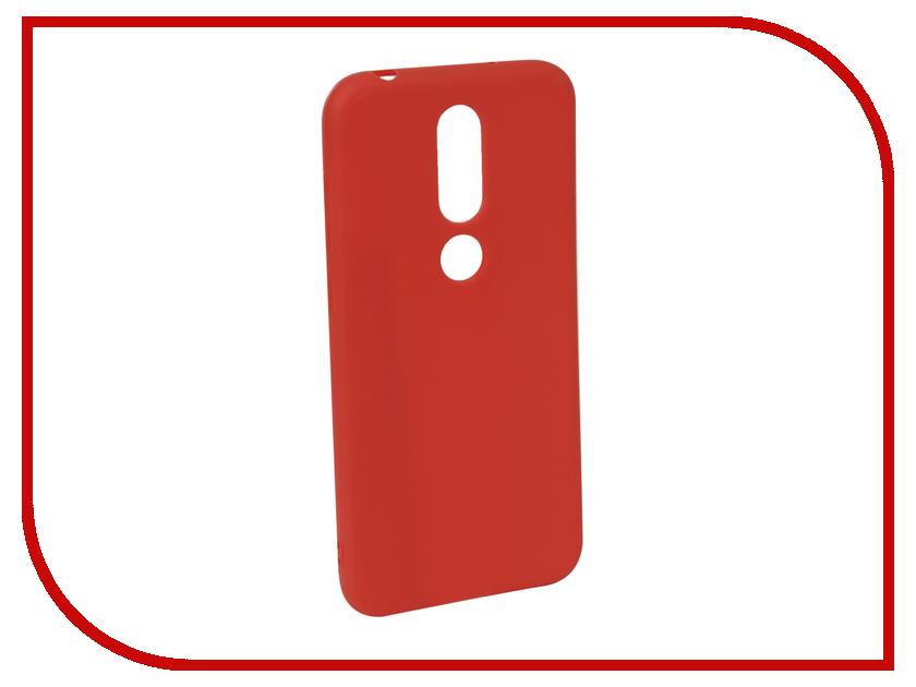 Аксессуар Чехол для NOKIA 6.1 Plus X6 2018 Neypo Soft Matte Red NST6131 аксессуар чехол для nokia 7 plus neypo silicone transparent nst4318