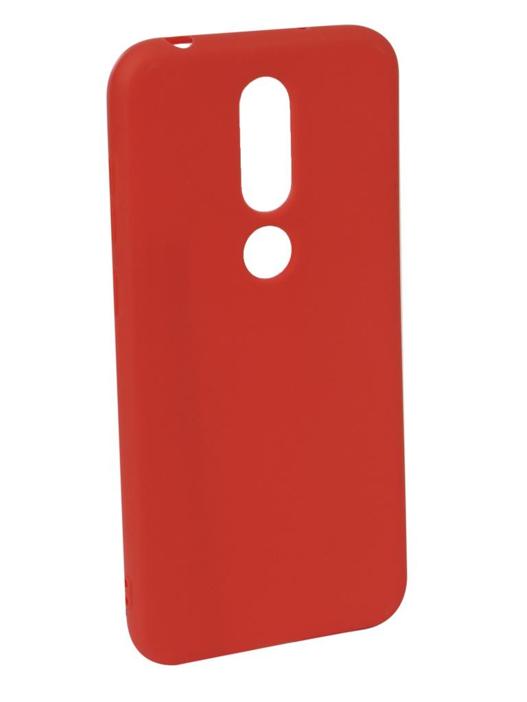 Аксессуар Чехол Neypo для Nokia 6.1 Plus X6 2018 Soft Matte Red NST6131 аксессуар чехол neypo для nokia 6 1 plus x6 2018 soft matte dark blue nst6132