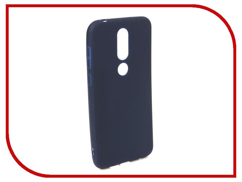 Аксессуар Чехол для NOKIA 6.1 Plus X6 2018 Neypo Soft Matte Dark Blue NST6132 аксессуар чехол для samsung galaxy a6 plus 2018 neypo soft matte dark blue nst4633