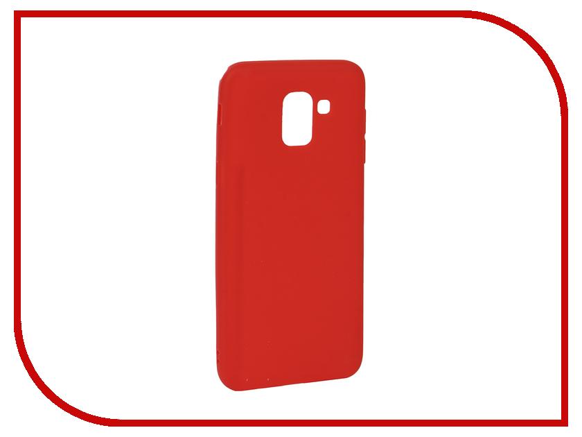 Аксессуар Чехол для Samsung J6 2018 Neypo Soft Matte Red NST4626
