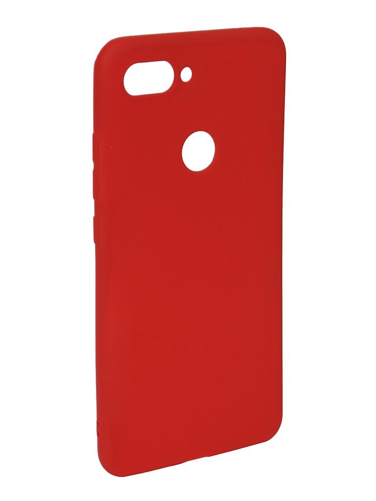 Аксессуар Чехол Neypo для Xiaomi Mi8 Lite Soft Matte Red NST6438