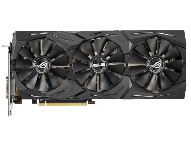 Видеокарта ASUS Radeon RX 590 1545Mhz PCI-E 3.0 8192Mb 8000Mhz 256 bit DVI HDMIx2 HDCP ROG-STRIX-RX590-8G-GAMING