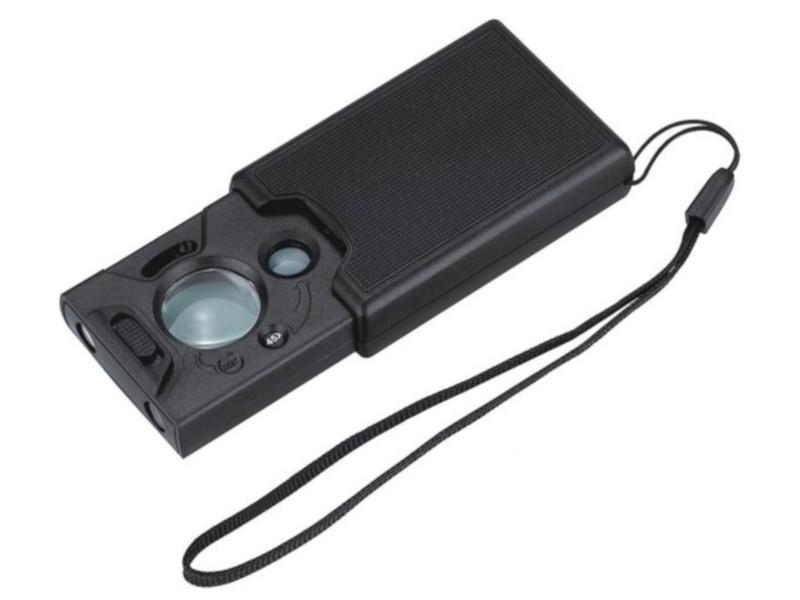 Лупа ювелирная Kromatech MG9585 30x/45x/60x двойная с подсветкой 2 LED 23149b045 цена и фото