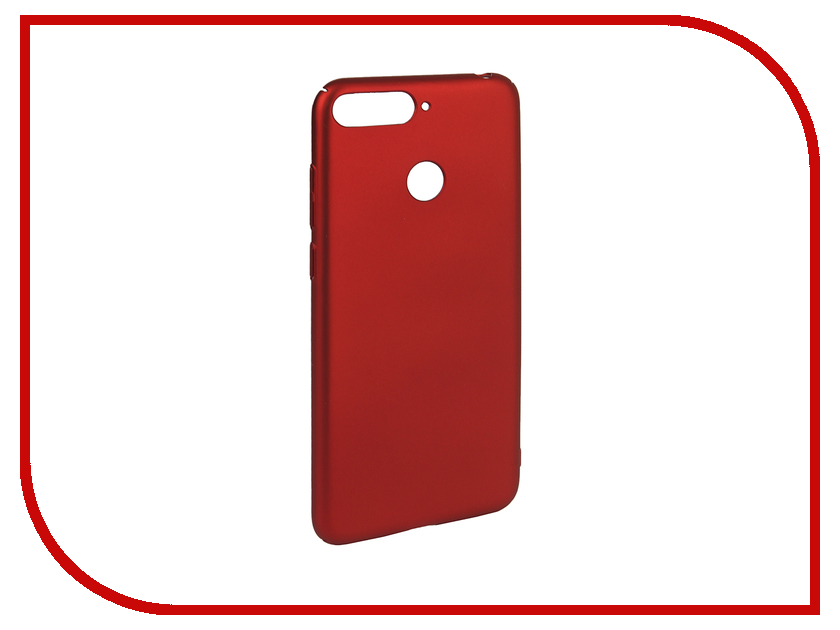 Аксессуар Чехол для Huawei Honor 7A Pro / 7C / Y6 Prime 2018 iBox Soft Touch Fresh Red УТ000016885 аксессуар чехол для huawei honor 7a pro gurdini premium silicone red 906540