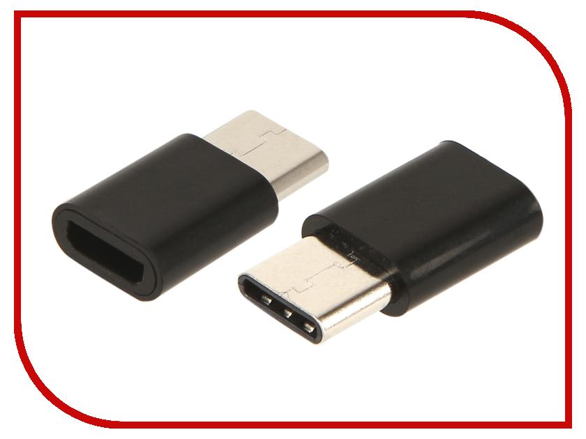 Аксессуар Red Line MicroUSB - Type-C Black УТ000016931 red line lx01 2 in 1 usb microusb type c black