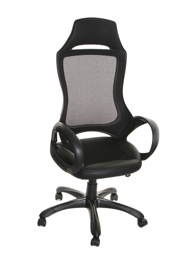 Компьютерное кресло TetChair Mesh-3 ткань, искусственная кожа Black