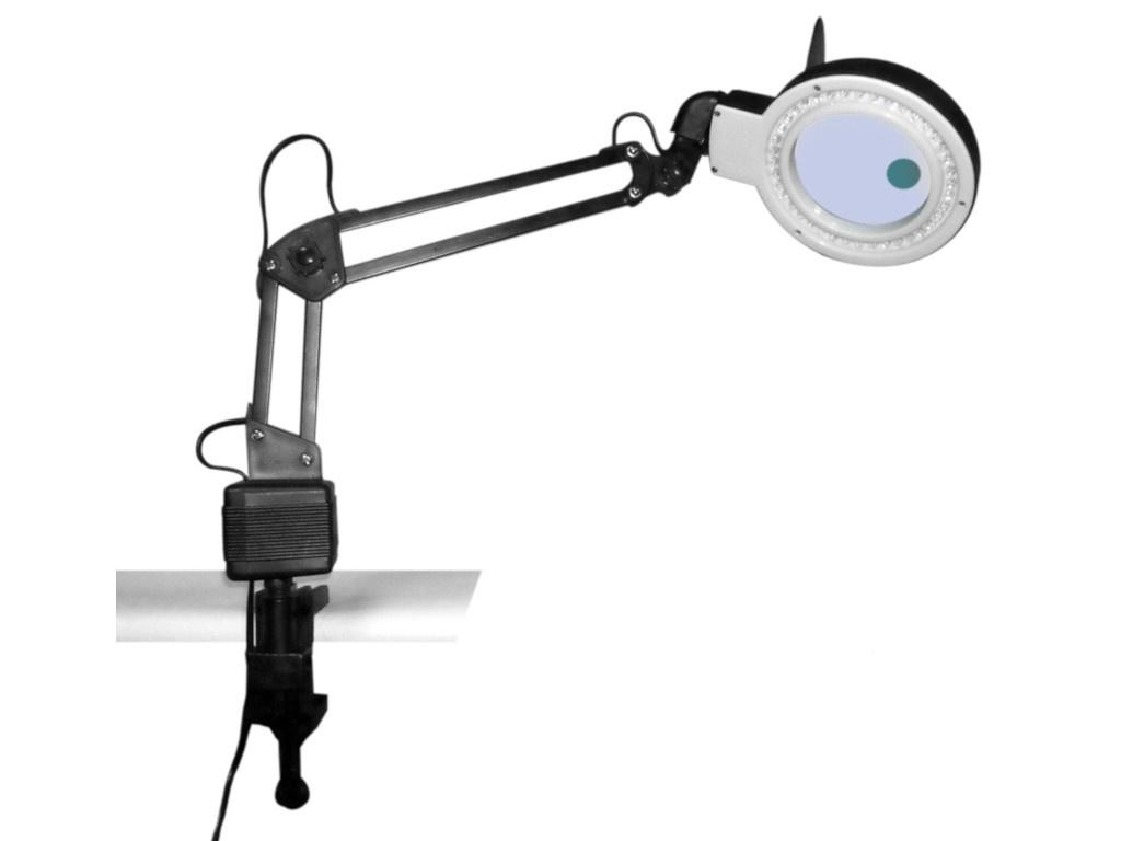 Лупа настольная Kromatech 2x/20x с подсветкой 40 LED 23149b202 лупа bresser брессер 2x 90 мм с подсветкой