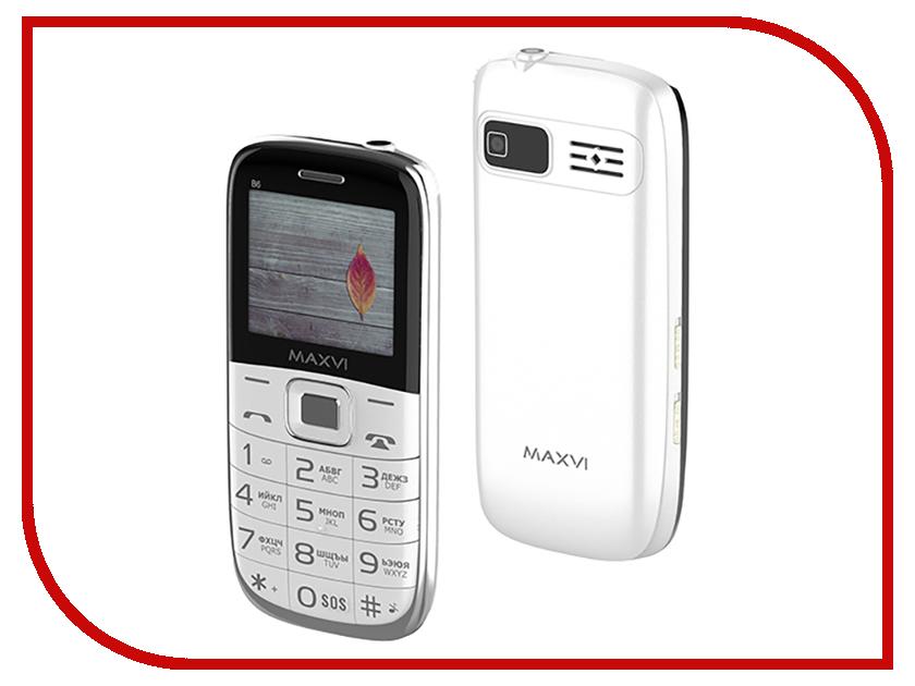 Сотовый телефон MAXVI B6 White сотовый телефон maxvi b6 black