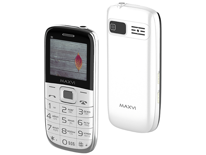 Сотовый телефон MAXVI B6 White сотовый телефон maxvi c17 white red