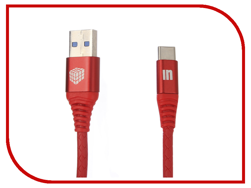 Аксессуар Innovation A1I-COBRA 3.A USB - Type-C 1m Red 13325 аксессуар perfeo usb 2 0 a usb type c 1m black red u4901