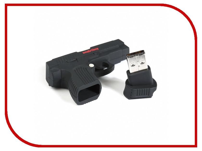 USB Flash Drive 16Gb - SmartBuy Wild Series Пистолет SB16GBGN sp i series handy portable usb flash drive black 16gb