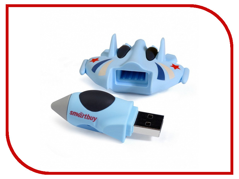USB Flash Drive 16Gb - SmartBuy Wild Series Истребитель SB16GBFI sp i series handy portable usb flash drive black 16gb