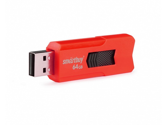 USB Flash Drive 64Gb - SmartBuy Stream Red SB64GBST-R3