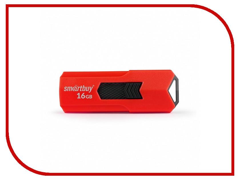 USB Flash Drive 16Gb - SmartBuy Stream Red SB16GBST-R3 smartbuy run black red sbh 320