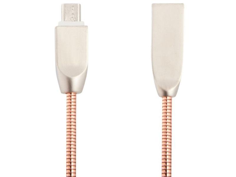 Аксессуар Liberty Project USB - Micro USB Панцирь 1m Rose Gold 0L-00040515